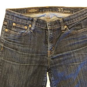 J. Crew Toothpick Jeans in Medium Wash 27A